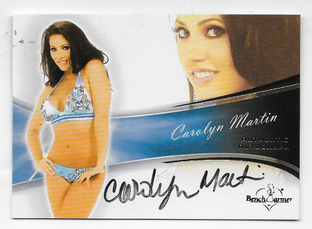 Carolyn Martin 2013 Benchwarmer Authentic Autograph #54 auto