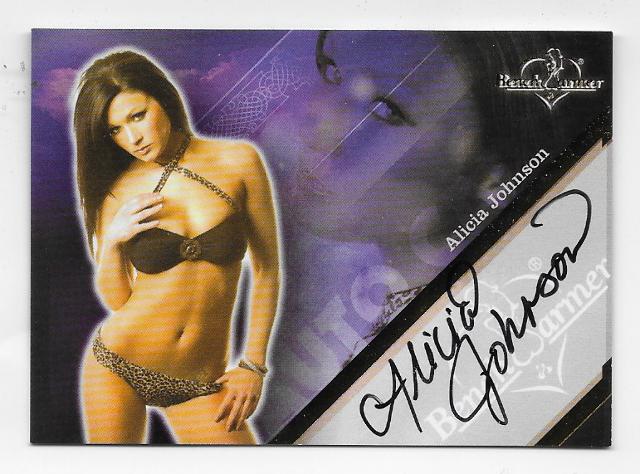 Alicia Johnson 2013 Benchwarmer  Autograph auto