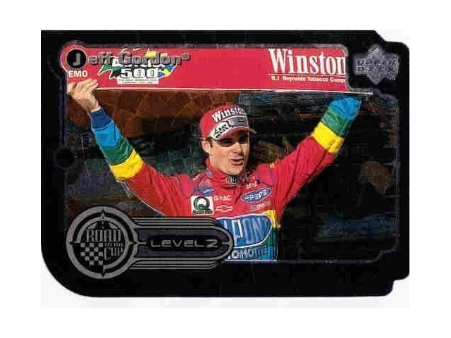 JEFF GORDON 1999 Upper Deck Road to the Cup Silver Level 2 #RTTC Die Cut Card