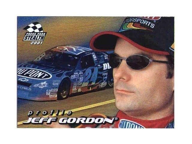 JEFF GORDON 2001 Press Pass Stealth Profile Insert Card PR5 Hendrick Motorsports