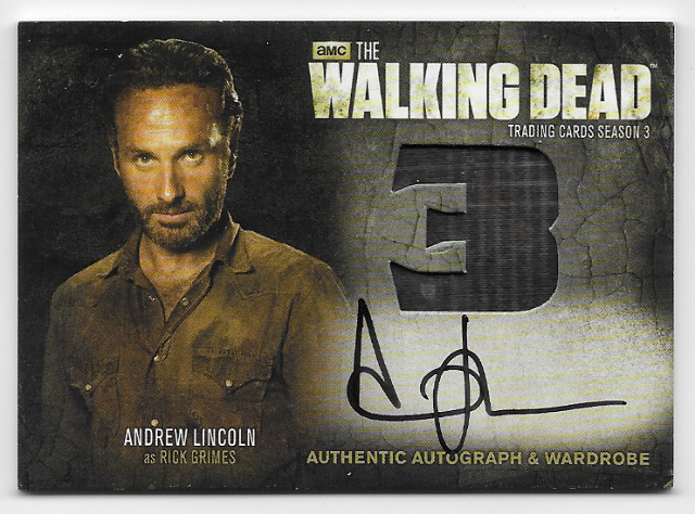 Andrew Lincoln Rick Grimes 2014 Cryptozoic Walking Dead season 3 Wardrobe Card AM9