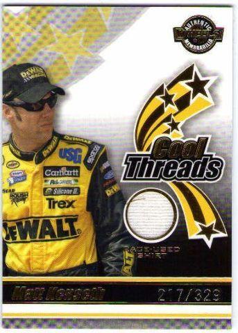 MATT KENSETH 2006 Wheels American Thunder Cool Threads Race Used Shirt Card /329
