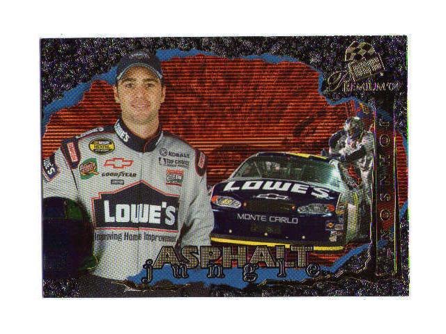 JIMMIE JOHNSON 2004 Press Pass Premium Asphalt Jungle Foil Insert Card #AJ4  (x)