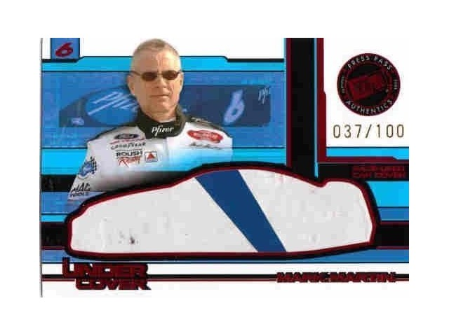 MARK MARTIN 2004 Press Pass Eclipse Under Cover Cars Race Used Car Cover 37/100  (X)