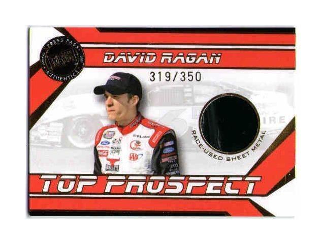 DAVID RAGAN 2007 Press Pass Top Prospect Rookie Race-Used Sheet Metal Card /350