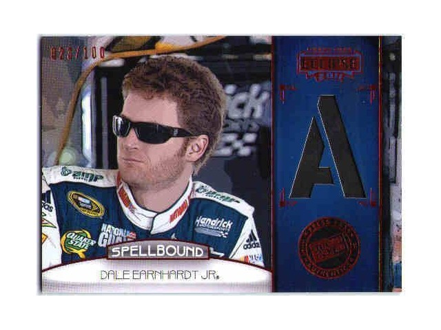 DALE EARNHARDT JR 2011 Press Pass Eclipse Spellbound Swatches 23/100 Tire Card