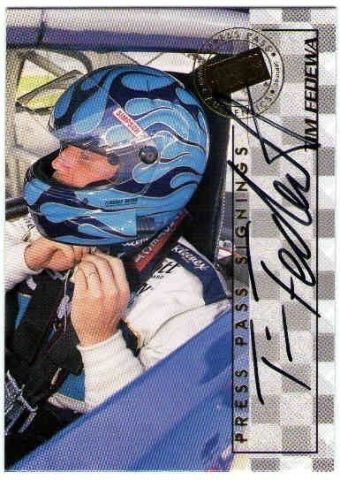 TIM FEDEWA 1998 Press Pass Signings Autograph Auto On Card BV$15  (x)