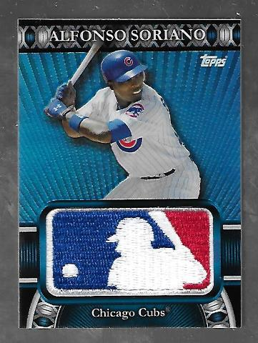 ALFONSO SORIANO 2010 Topps MLB Silhouetted Batter Logo Patch /50 Chicago Cubs