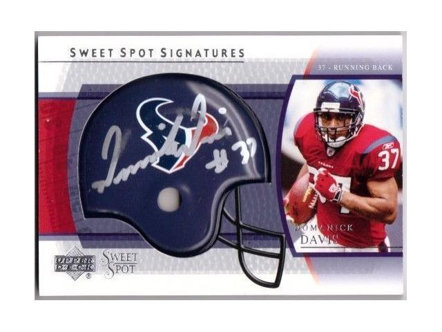 DOMANICK DAVIS 2004 Upper Deck Sweet Spot Signatures Signed Autograph Card BV$25