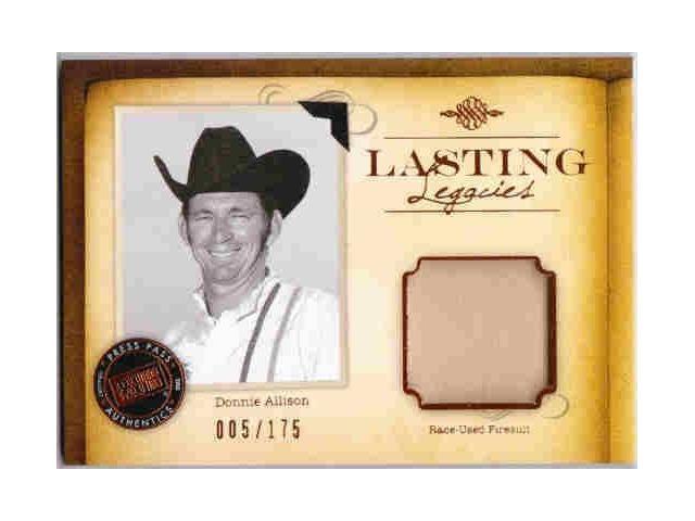 DONNIE ALLISON 2010 Press Pass Legends Firesuit /175 + Autograph /50 Auto Card (x)
