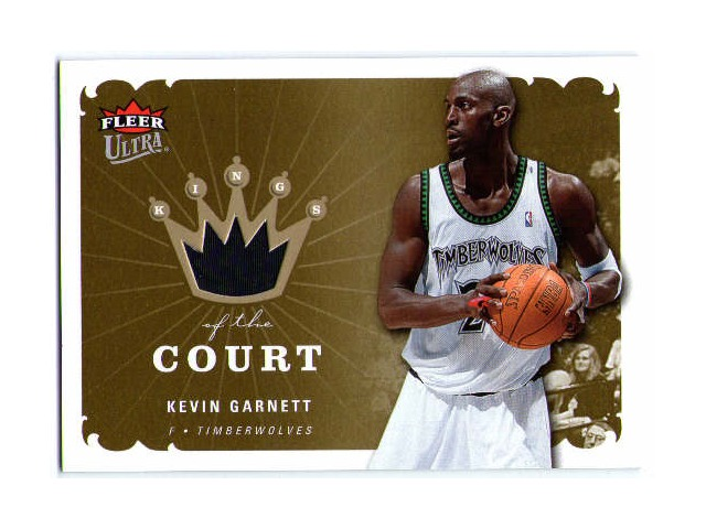 KEVIN GARNETT 2006-07 Fleer Ultra Kings of the Court Game Used Jersey Card