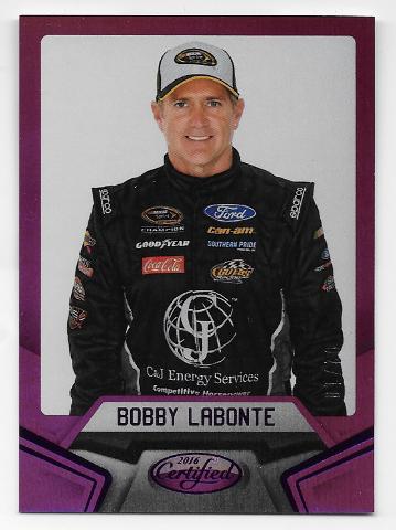 Bobby Labonte NASCAR 2016 Panini Certified Refractor /10 purple border  (x)