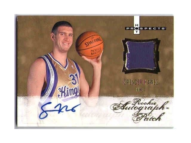 SPENCER HAWES 2007-08 Fleer Hot Prospects Jersey Rookie Autograph RC /399 Card