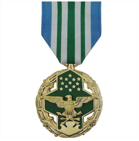 Vanguard Joint Service Commendation Military Medal Award-24K Gold Plated (FS)