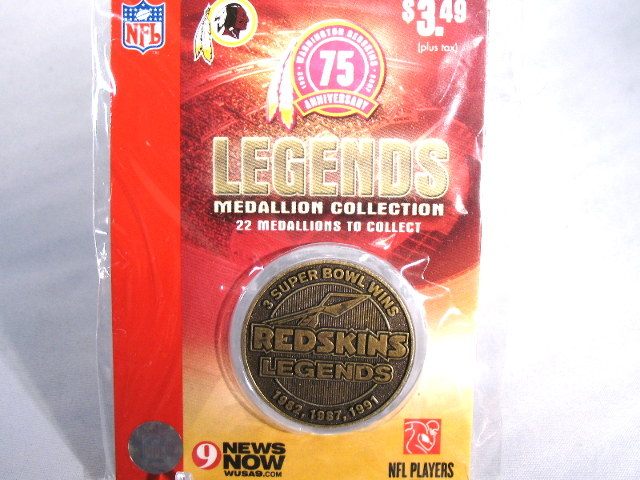 Washington Redskins Legends 75th Anniversary Commemorative Medallion Coin