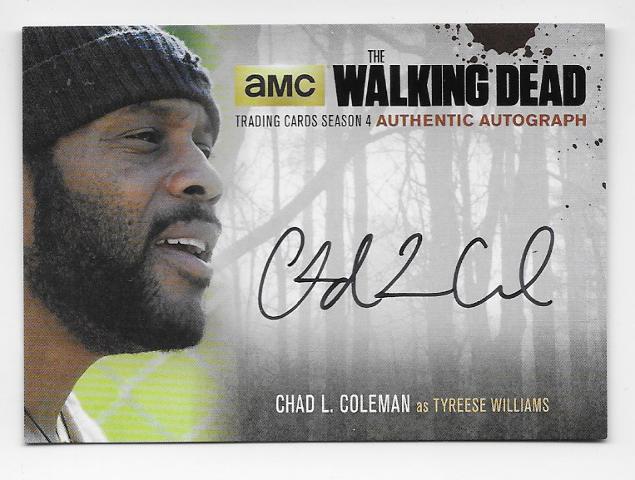 Tyreese Williams 2016 Cryptozoic Walking Dead season 4 auto Card CLC2 Autograph