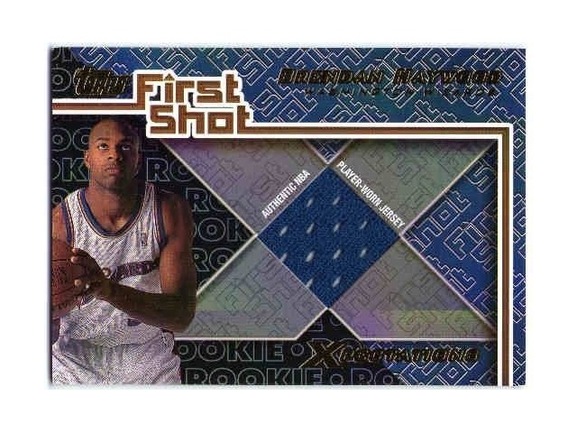 BRENDAN HAYWOOD 2001-02 01/02 Topps Xpectations First Shot Jersey Card Wizards
