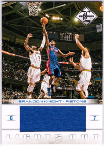 BRANDON KNIGHT 2012-13 Limited Lights Out Materials Game Jersey Card 13/49