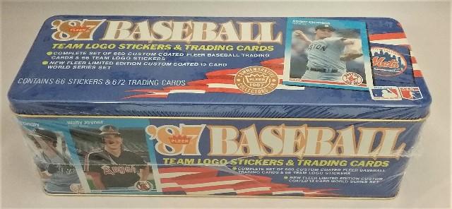 1987 Fleer Baseball Blue Tin Factory Set Sealed
