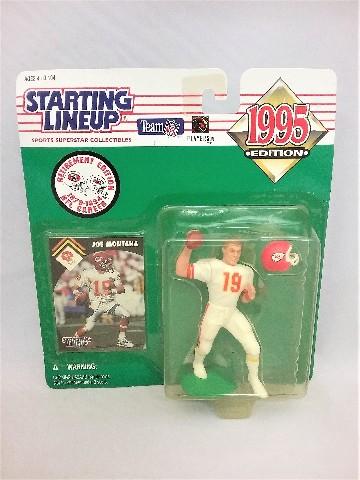 1995 Joe Montana NFL Starting Lineup Sports Superstar Collectibles Kansas City KC Chiefs San Francisco SF 49ers Retirement Edition 1979-1994 NFL Career