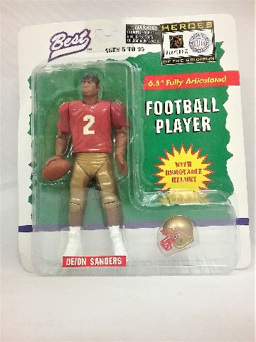 "1997 Deion Sanders Best Heroes of the Gridiron 6.5"" Florida State College"