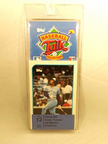 1989 Topps Baseball Talk Collection Set 12 Soundcards NIP NOS George Bell