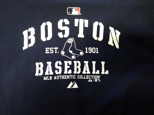 Majestic Boston Red Sox Navy Blue Graphic T-Shirt Women's Size XL Baseball