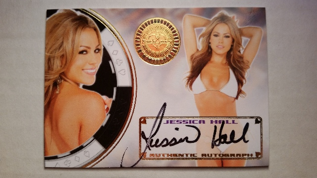 JESSICA HALL 2014 Bench Warmer Vegas Baby Autograph Auto On Card