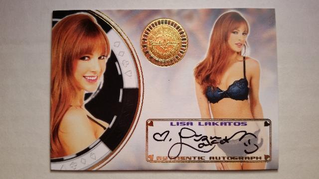 LISA LAKATOS 2014 Bench Warmer Vegas Baby Autograph Auto On Card