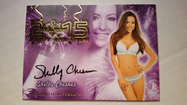 SHELBY CHESNES 2015 Bench Warmer Signature Series Happy New Year SP Auto On Card