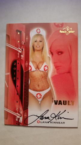 Lana Kinnear 2012 Bench Warmer Vault Nurse Autograph Auto On Card #60 Playboy