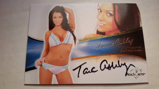 Tara Ashley 2013 Bench Warmer Bubble Gum Autograph Auto On Card #11