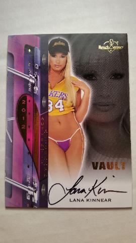 Lana Kinnear 2012 Bench Warmer Vault Autograph Auto On Card #7 Playboy