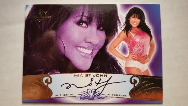 Mia St John 2010 Bench Warmer Signature Series Autograph Auto On Card #90A