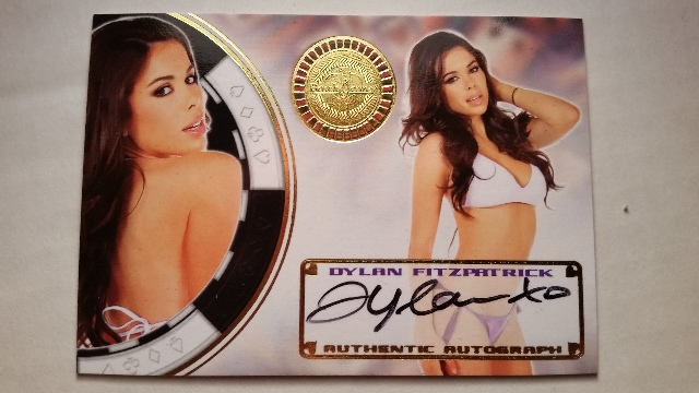 Dylan Fitzpatrick 2014 Bench Warmer Vegas Baby Autograph Auto on Card #48