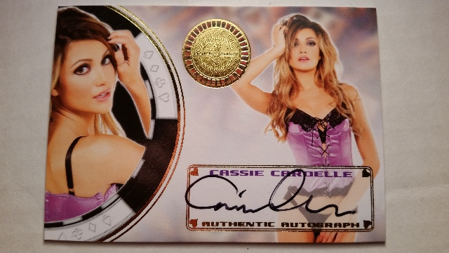 Cassie Cardelle 2014 Bench Warmer Vegas Baby Autograph Auto on Card #16