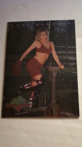 SUZI SIMPSON 1997 Bench Warmer Chromium #3 Playboy Becky Midnite Enemy Gold