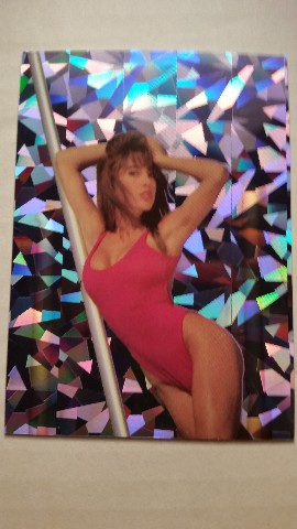 Brooke Morales 1992 Bench Warmer Prisms #3 BASEketball Raiderette Playboy