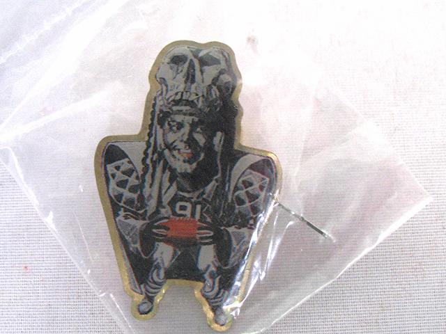 1994 Coke MONSTERS OF THE GRIDIRON Pin Chester Renegade Raider McGlockton