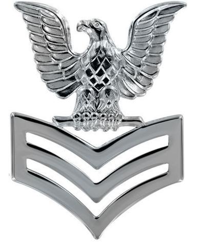 Vanguard NAVY CAP DEVICE: E6 PETTY OFFICER FIRST CLASS - SILVER