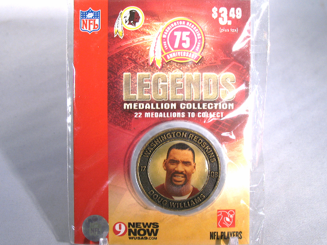 DOUG WILLIAMS Washington Redskins Legends 2007 Collectible Medallion Coin