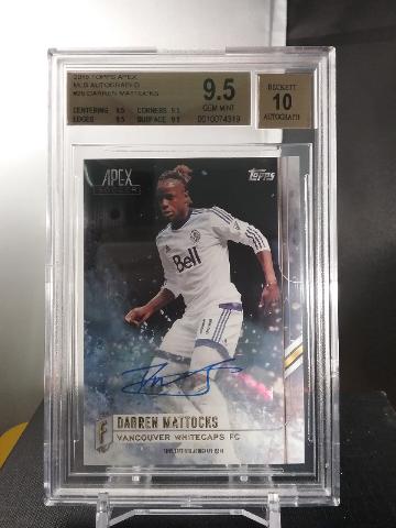 Darren Mattocks 2015 Topps Apex MLS Autograph Auto BGS 9.5 Gem Mint Whitecaps