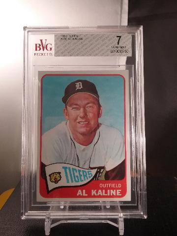 Al Kaline 1965 Topps Beckett Graded BVG 7 NM Detroit Tigers Hall of Fame HOF