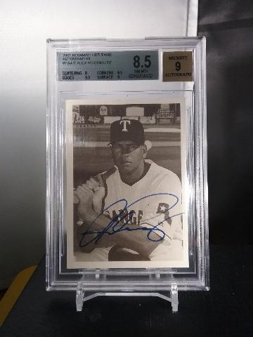 Alex Rodriguez 2001 Bowman Heritage B&W Autograph Auto Beckett BGS 8.5 Yankees