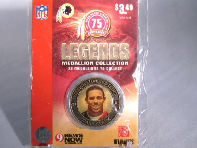 GARY CLARK Washington Redskins Legends 2007 Collectible Medallion Coin