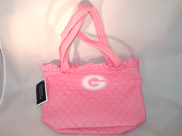Collegiate Collection University of Georgia Pink Quilted Tote Purse Bag