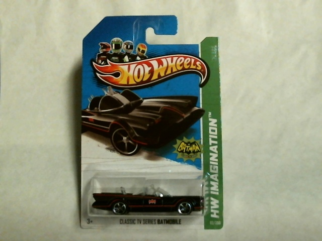 Hot Wheels 2013 Imagination Batman Classic TV Batmobile  62/250 X1710  Adam West