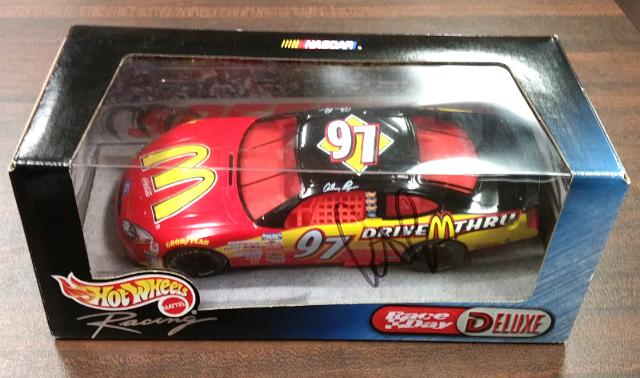 Hot Wheels Race Day Deluxe 1:24 #97 Anthony Lazzaro McDonalds NIB NASCAR #27557