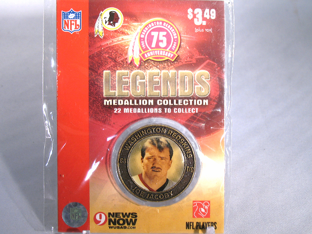 JOE JACOBY Washington Redskins Legends 2007 Collectible Medallion Coin