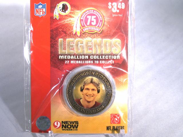 JOE THEISMANN Washington Redskins Legends 2007 Collectible Medallion Coin